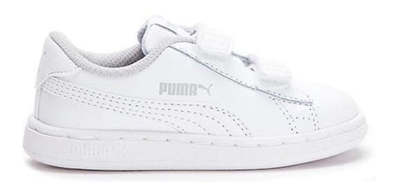 Zapatillas Puma Smash V2 Para Niño 367124-02