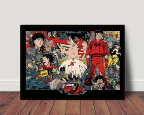 Quadro Decorativo Filme Akira Anime 1988 Geek Manga