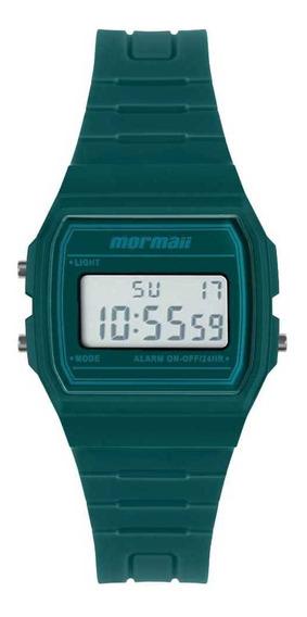 Relógio Masculino Digital Quadrado Verde Mormaii Original+nf
