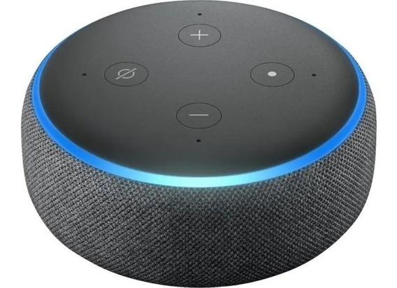 Smart Speaker Amazon Alexa Echo Dot 3 Preto Português Anatel