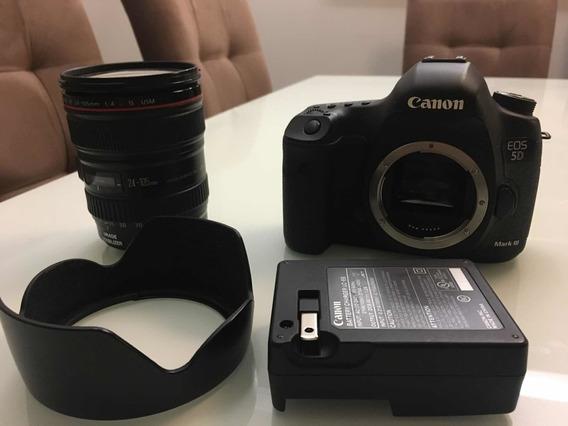 Câmera Digital, Canon, Eos 5d, Mark Iii Com Lente 24-105mm