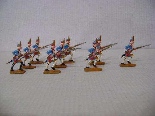 Imagen 1 de 6 de Nico 9 Fusileros Marchando Soldados De Plomo (pmv 41)
