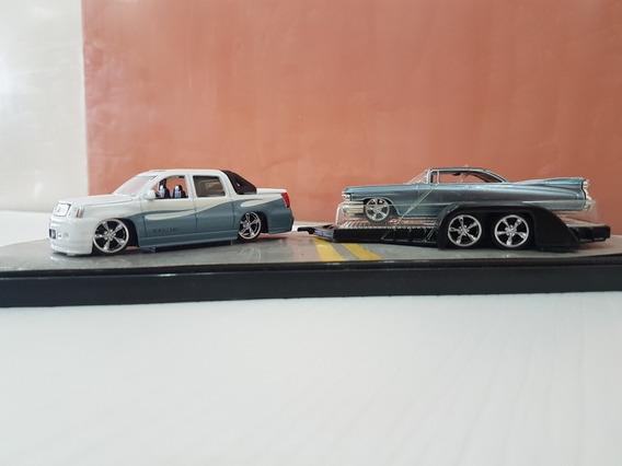 Carros A Escala Colección 1/64, Bello Remolque, 3 Piezas!!!!