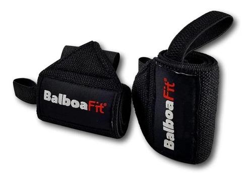 Imagen 1 de 5 de Muñequeras Elasticas Balboafit Fitness Gimnasio Gym
