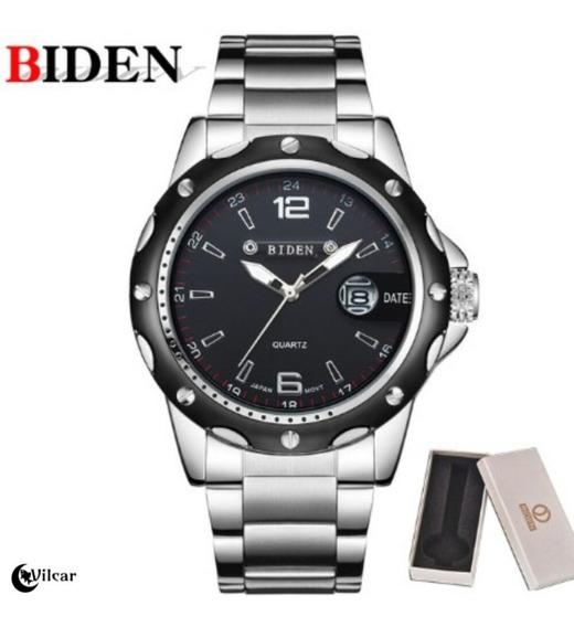 Relógio Biden Masculino Aço Inox Esportivo - Original C/cx.