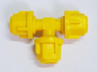 Te De Comando Micro Tubo 8 X 8 X 8 Mm Irrigação Kit 50 Peças