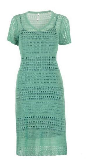 Vestido Verde 12-229 Rinna Primavera-verano 2020