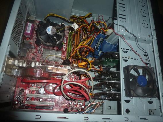 Core 2 Duo 5gb Ram Com 4 Hds + Monitor 15,6 Pol