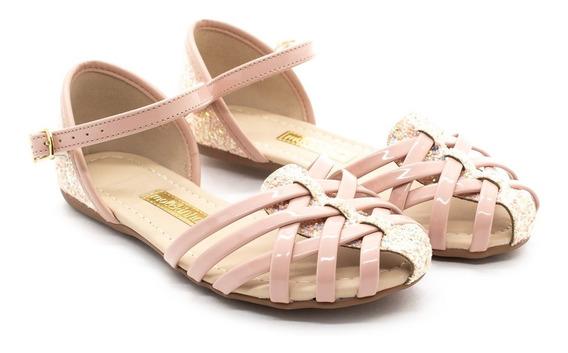 Sandália Molekinha 2086.264 Multi Branco/rosa