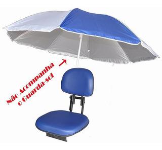 Cadeira Banco Barco Estofada Giratória Suporte De Guarda Sol