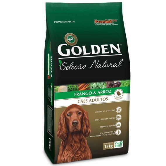Ração Golden Seleção Natural Para Cães Adultos 15kg