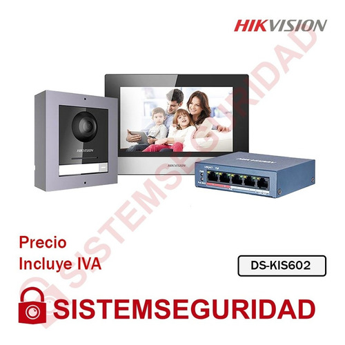 Kit Videoportero Ip Hikvision Ds-kis602  2 Mp Video Portero