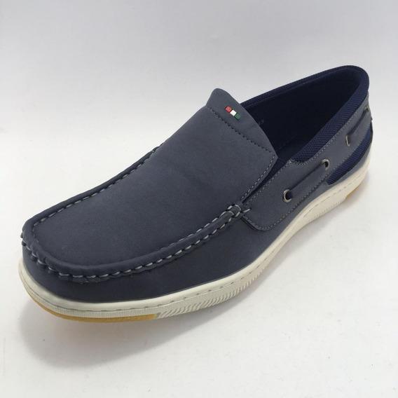 Zapato Náutico Negro, Azul Y Marrón - Massimo Chiesa