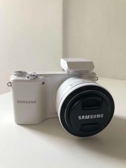 Câmera Samsung Nx2000 Mirrorless + Lente 20-50 + Flash