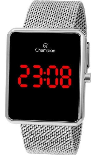 Relógio Champion Ch40080t Digital Quadrado Prata