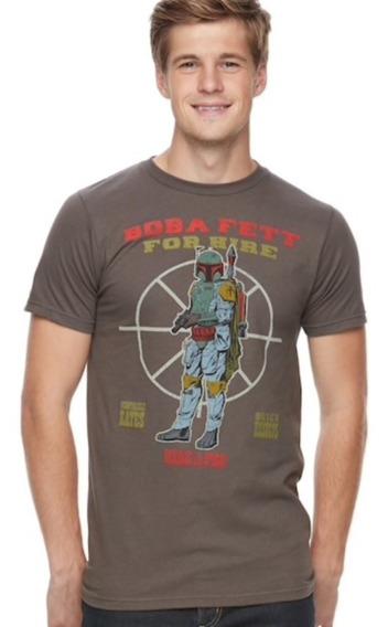 Boba Fett For Hire Remera Star Wars Original Disney