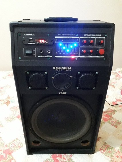 Caixa De Som Amplificada Mondial Electronic 200w.mod:cm-03.