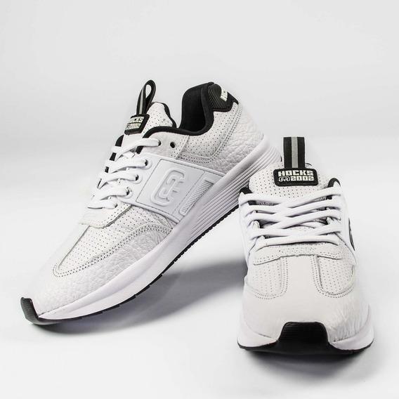 Tênis Hocks Skate Sneaker Branco White 2002 Original Masculino E Feminino Couro Casual Promoção Envio Imediato