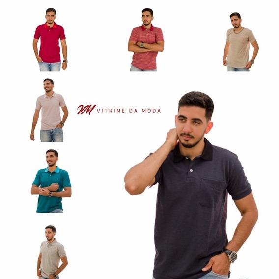Kit Atacado 50 Camisetas Polo Tolentex Cor Variada Promoção