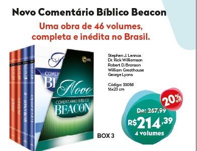 O Novo Comentáriobíblicobeacon- Box 3 Frete Gratis