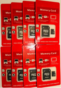 Kit 8 Cartão De Memória 32gb Kingston Sandisk Micro Sd