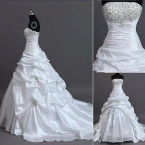 Vestido De Noiva Tafetá A Pronta Entrega.novo