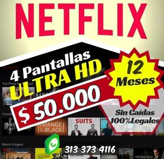 Ahorra 65% Cuentes Netfix 12 Meses Garantizados