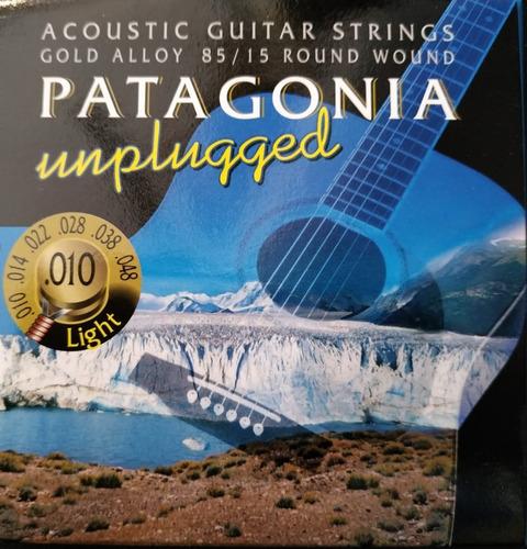 Imagen 1 de 7 de Encordado Guitarra Acustica Patagonia 85/15 - 010 U 011 Gold