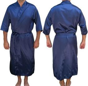fc7c5af0e Robe De Cetim Preto Com Plumas Lindíssimo Pijamas - Roupa de Dormir ...
