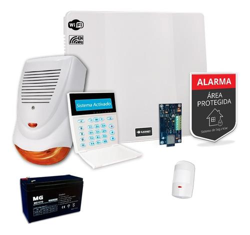 Kit Alarma Casa Ip Wifi Internet Sensor Inalámbrico Sirena