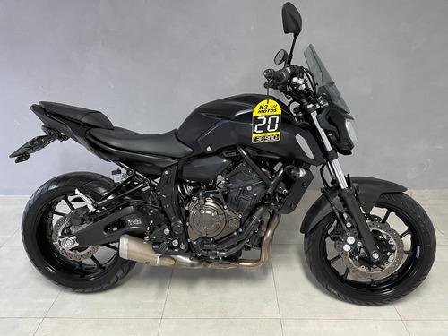 Yamaha Mt07 C/ Freio Abs (2020) Preta Fosca C/ Acessórios