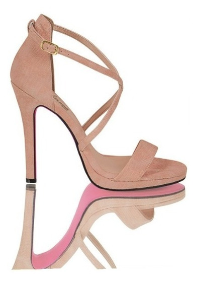 Zapatilla Zapato Dama Mujer Moda Maquillaje Tacon 12 Cm