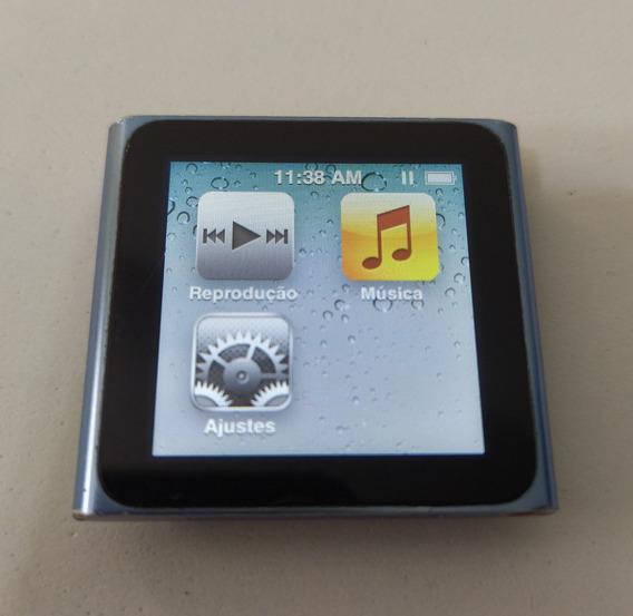 iPod Nano 6 8gb Azul Rádio Fm - Usado Apple Parcela - Bddvy