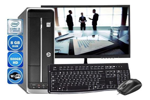 Computador Completo Hp 402 I3 4°geração 8gb Hd 500gb Wi-fi