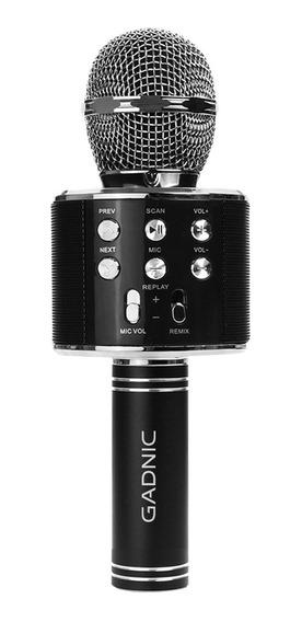 Microfono Karaoke Con Parlante Recargable Inalambrico Gadnic