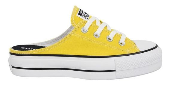 Tênis Converse Chuck Taylor All Star Mule Plataform Amarelo