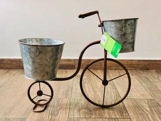 Macetero Maceta Bicicleta Metal Galvanizado Hierro Forjado