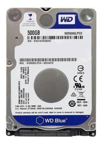 Imagem 1 de 2 de Disco rígido interno Western Digital  WD5000LPCX 500GB azul