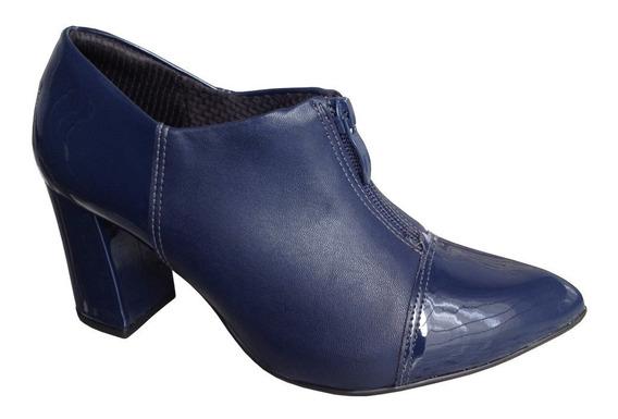 Ankle Boot Piccadilly 746003 Bico Fino E Salto Grosso 7cm