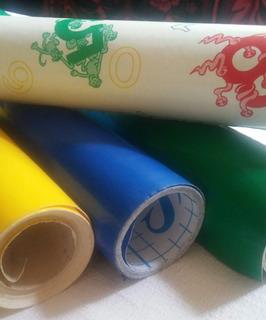 Papel Contact Rollo Verde, Azul O Con Diseño