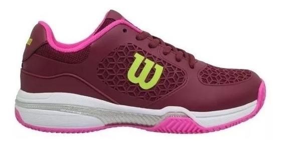 Zapatillas Wilson Match Mujer Tenis-padel Bordo