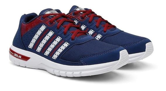 Tenis Zeus Masculino Esporte Caminhada Azul