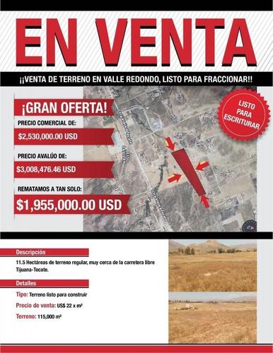 Imagen 1 de 1 de Terreno Venta,  En Tijuana Uso Mixto  En Valle Redondo