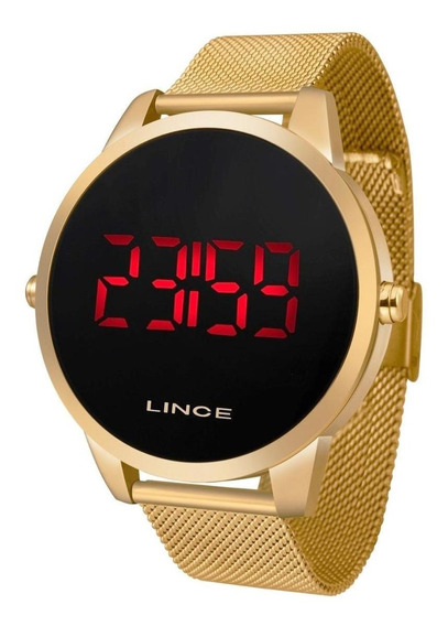 Relógio Lince Masculino Dourado Mdg4586l Pxkx