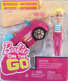 Muñeca Barbie On The Go Vehículo Mattel