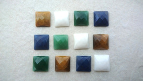 Lote Pedras Naturais Quadradas Facetadas#06 Pedras#