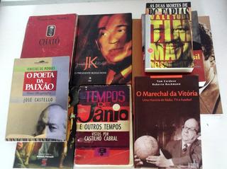 Lote Com 12 Livros De Biografias De Famosos Brasileiros