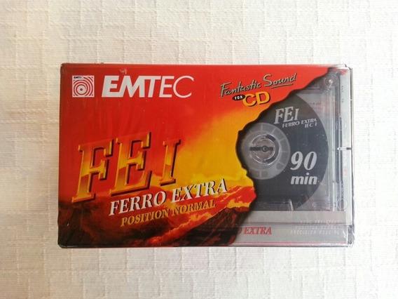 Fita K7 Cassete Emtec/basf 90 Ferro Extra (lote 10 Unidades)