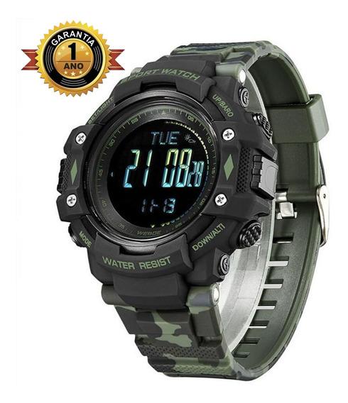 Relógio Digital Para Esporte Pedômetro Bússola Wa9j001 Verde