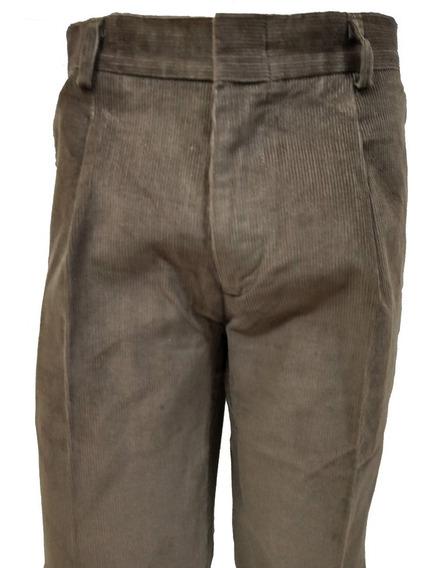 Pantalones De Corderoy Clasicc Fit Hombre Bolsillo Chino